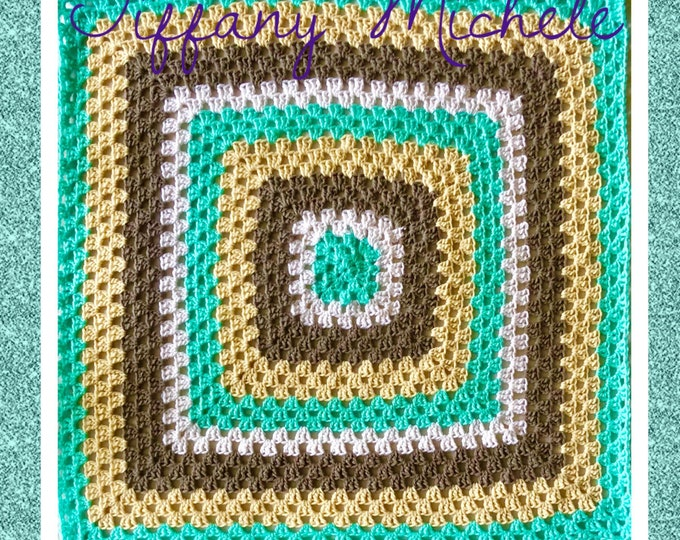 Mint Neutrals Crochet Handmade Blanket / Throw / Afghan