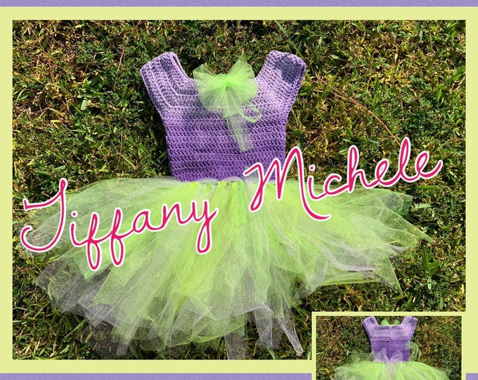 Green and Purple Toddler Dress