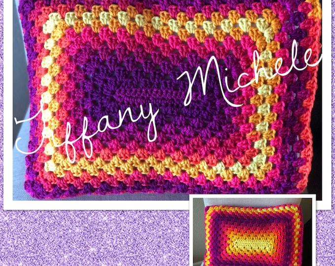 Handmade Colorful Summer Pillow / Home Decor / 12x16