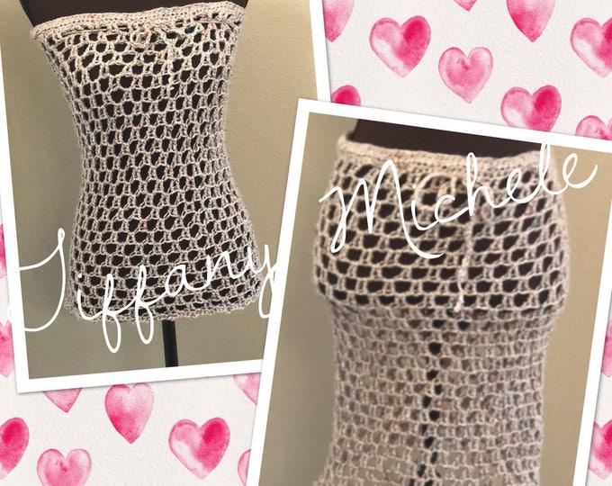 Fall Autumn Beige Crochet Skirt or Top / Handmade
