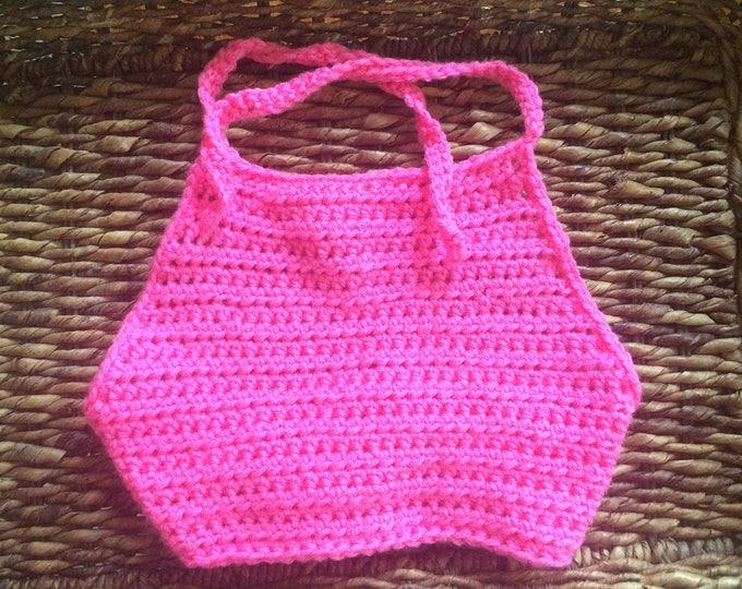 Girls Crochet Boho Style Halter Top