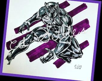 T'Challa Black Panther Wakanda Comic Drawing