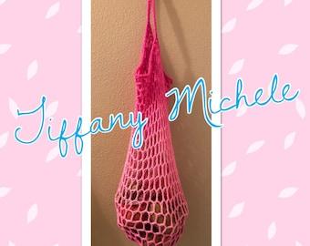 Pink Market Grocery Beach Fun Bag Handmade