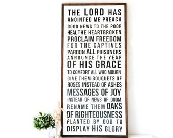 Isaiah 61 - Wood Sign