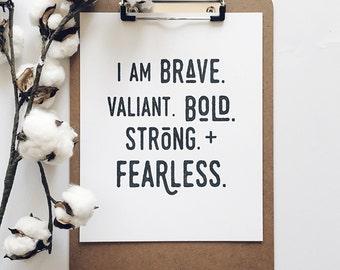 Brave | 8x10 letterpress print
