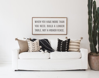 Build A Longer Table - wood sign