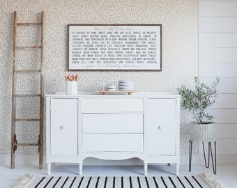 Customizable Family Declaration | wood sign