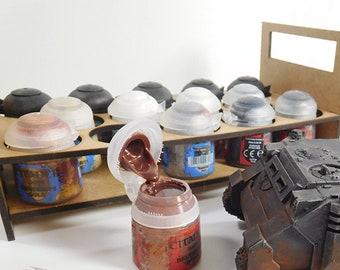 Portable paint pot holder