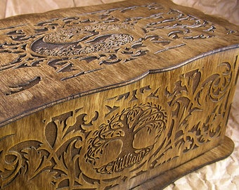Memorial Tree of Life personalized decorative scrollwork box
