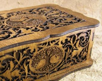 Tree of Life decorative scrollwork box
