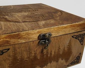 Customizable personalized wood keepsake box
