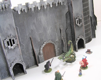 Game master castle screen with built in dice towers