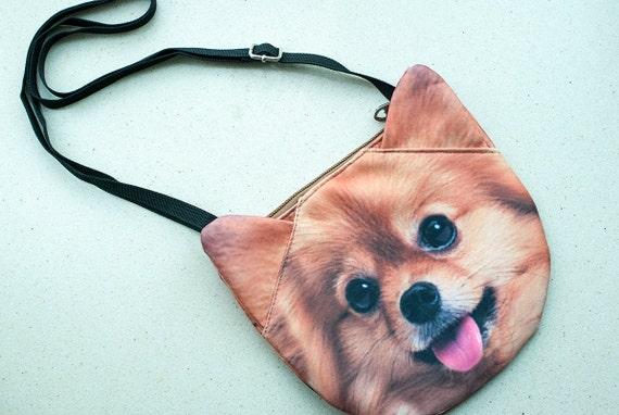 Pomeranian Cross Body Dog Shoulder Bag Dog Bag Dog Clutch Etsy