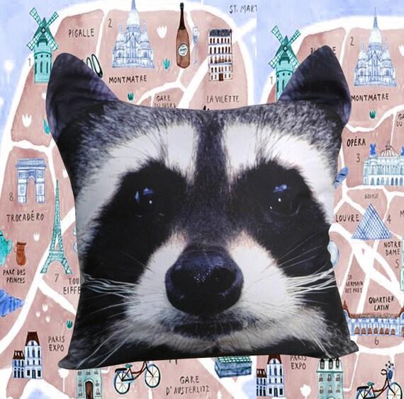 Raccoon cushion cover pillow case