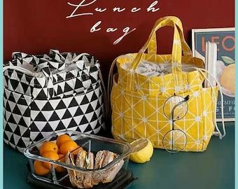 Custom Gift bag,lunch+bag,insalated lunch bag,lunch bag insalated,japanese gift bag,school lunch bag,Corduroy bag,lunch bag for woman,