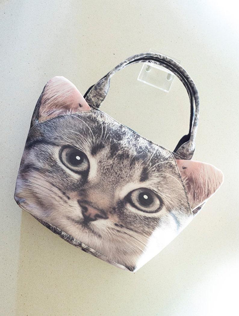 Kitten cat print bag cat mini tote mini tote cat mini bag MT060
