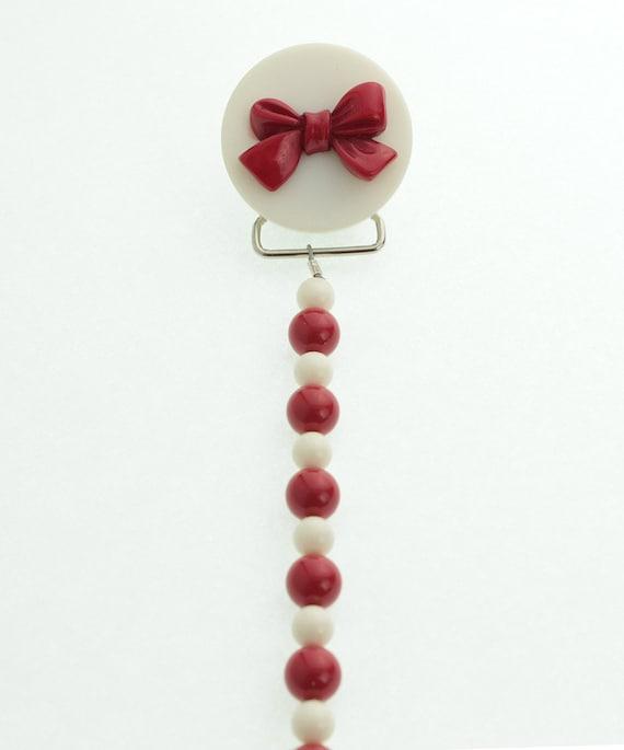 piedra de flores Chupete Chupete Chupete clip de soporte para beb/é ni/ña Rojo