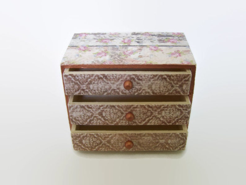 4 6 Vintage Wooden Drawers Storage Boxes Shabby Chic Containers Bits /& Bobs
