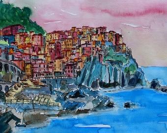 Manarola A Cinque Terre Dream - Limited Edition Fine Art Print