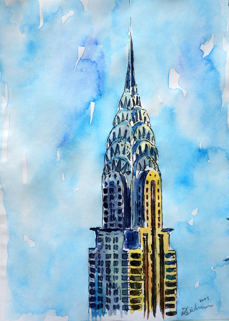 Solitary View of Chrysler Building New York City