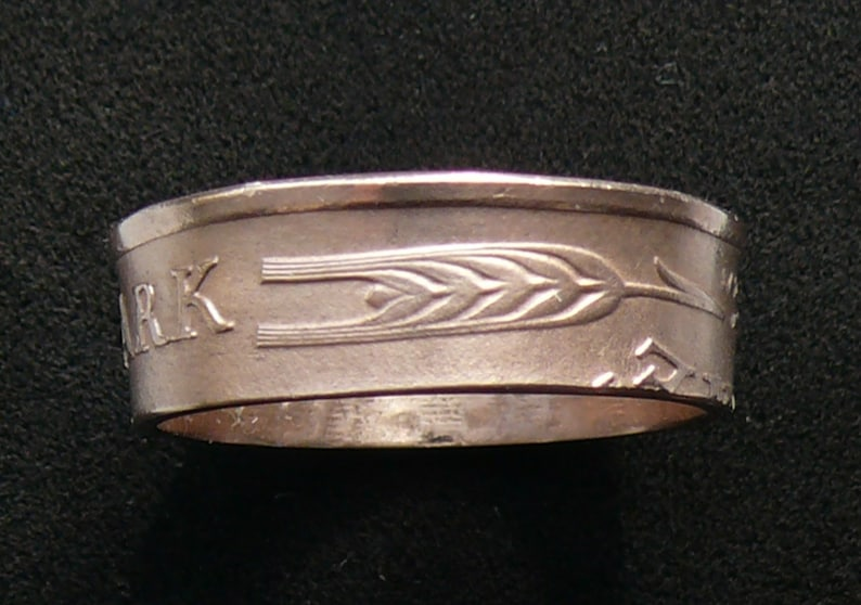 Bronze Coin Ring 1963 Denmark 5 Ore Ring Size 8 and Double Sided