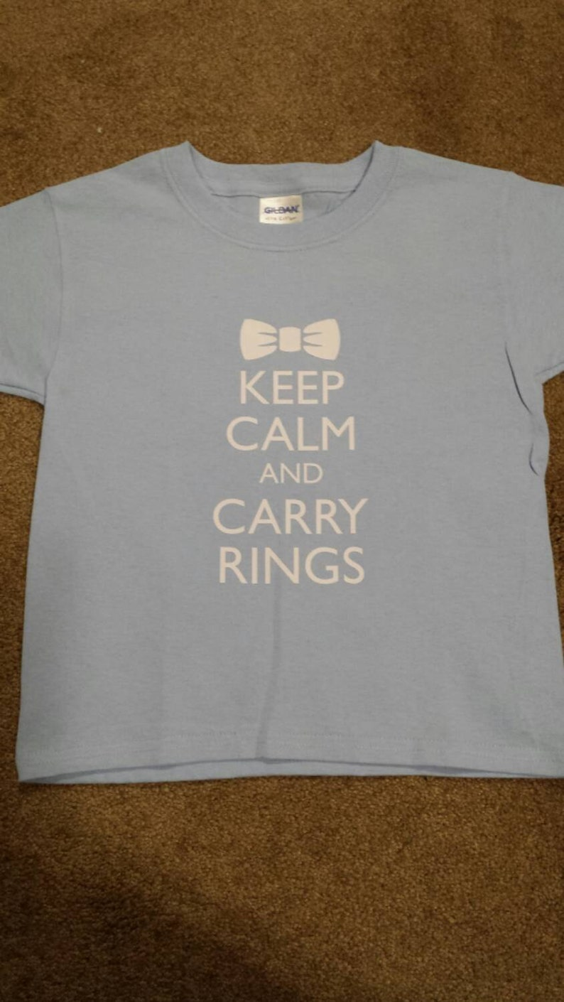 8f77ea440 Keep Calm and Carry Rings Ringbearer T-shirt wedding ring | Etsy