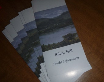 Silent Hill inspired tourism pamphlet + fanmade postcards