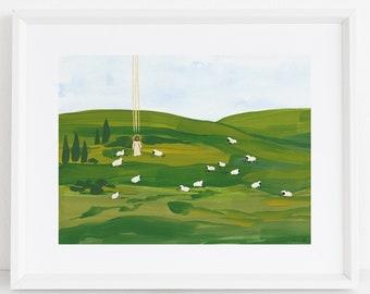 The Good Shepherd - Jesus Christ Religious Fine Art Print - Easter Morning Savior Resurrection Christian New Testament John 10 LDS