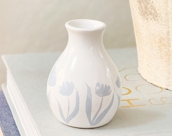 Spring Collection: Blue Tulips Bud Vase