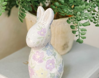 Spring Collection: Hand Painted Wildflower Bunny