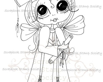 INSTANT DOWNLOAD Digital Digi Stamps Big Eye Big Head