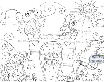 INSTANT DOWNLOAD Digital Digi Stamps Big Eye Big Head Dolls NEW Bestie Twinkle Toes Happy Troll House Scan0040 My Besties  By Sherri Baldy