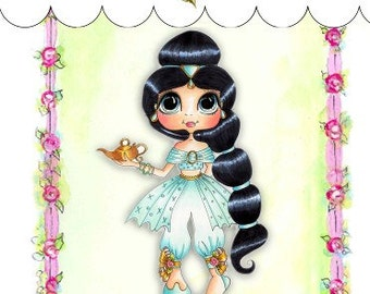 My-Besties Clear Rubber Stamp Big Eye Besties Big Head Dolls Jasmine  MYB-0018  By Sherri Baldy