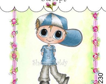 My-Besties Clear Rubber Stamp Big Eye Besties Big Head Dolls Hi Five Hank MYB-0230  By Sherri Baldy