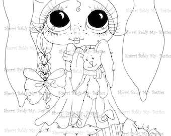 INSTANT DOWNLOAD Digital Digi Stamps Big Eye Big Head Dolls Digi  My - Besties  img230 By Sherri Baldy