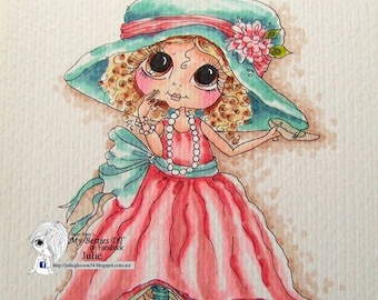 INSTANT DOWNLOAD Digital Digi Stamps Big Eye Big Head Dolls img069 Bestie By Sherri Baldy