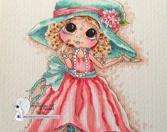 DESCARGAR INSTANT Digital Digi sellos grandes ojo cabeza grande muñecas img069 Bestie por Sherri Baldy