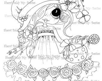 INSTANT DOWNLOAD Digital Digi Stamps Big Eye Big Head Dolls Sweet Candy My Besties By Sherri Baldy