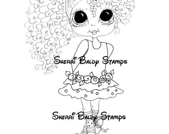 INSTANT DOWNLOAD Digital Digi Stamps Big Eyed  My Bestie Digi Stamp Besties Big Head Dolls Bestie Banna Pies New Dress Girl By Sherri Baldy
