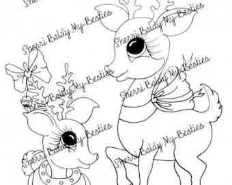 INSTANT DOWNLOAD Digital Digi Stamps Big Eye Big Head Dolls Digi  My - Besties imgA7 Winter Wonderland  By Sherri Baldy