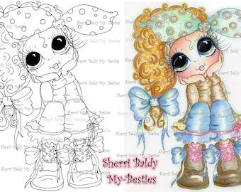 INSTANT DOWNLOAD Digital Digi Stamps Big Eye Big Head Dolls  IMG103 My Besties By Sherri Baldy