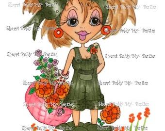 INSTANT DOWMLOAD Digital Digi Stamps Big Eye Big Head Dolls Digi Crafty Chicks Scan0003  By Sherri Baldy