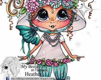 INSTANT DOWMLOAD Digital Digi Stamps Big Eye Big Head Dolls Digi Img104  New My Besties Tm  By Sherri Baldy