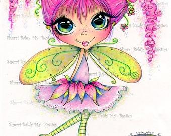 INSTANT DOWNLOAD Digital Digi Stamps Big Eye Big Head Dolls NEW My Besties img786 Fairy Bestie By Sherri Baldy