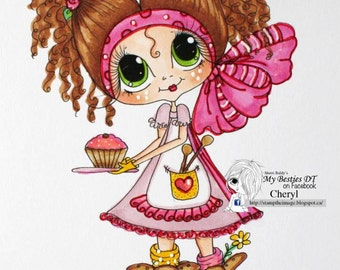 INSTANT DOWNLOAD Digital Digi Stamps Big Eye Big Head Dolls img704 My Besties By Sherri Baldy
