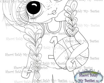 INSTANT DOWMLOAD Digital Digi Stamps Big Eye Big Head Dolls Digi Img022  My Besties By Sherri Baldy