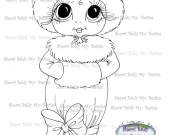 INSTANT DOWNLOAD Digital Digi Stamps Big Eye Big Head Dolls Digi  My - Besties  IMG042  By Sherri Baldy