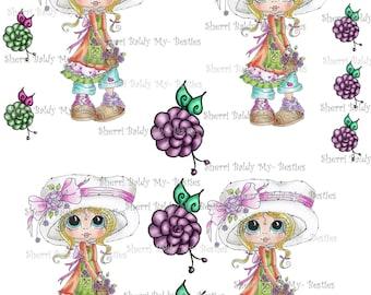 Instant Download Bonnie Bestie  3D Decoupage kit Besties Big Head Dolls Digi By Sherri Baldy