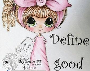 INSTANT DOWNLOAD Digital Digi Stamps Big Eye Big Head Dolls NEW Besties IMG721 My Besties By Sherri Baldy