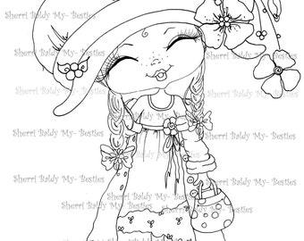 INSTANT DOWNLOAD Digital Digi Stamps Big Eye Big Head Dolls Digi Besties Fancy Pants Little Pixie Bestie By Sherri Baldy